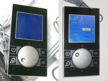 steam room control with STN screen screw knob for setting